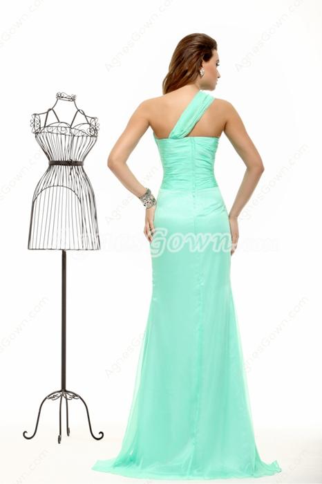 Noble One Shoulder Tiffany Green 8th Grade Graduation Dress