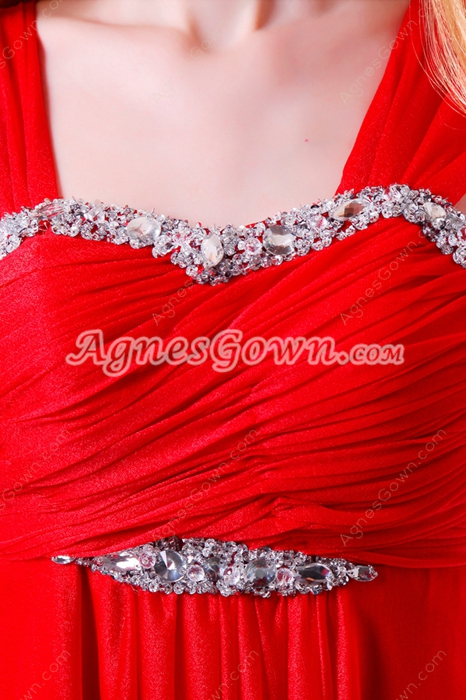 Desirable Ankle Length Empire Maternity Prom Dress