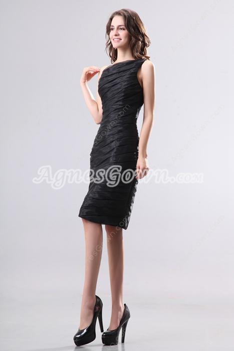 Graceful One Shoulder Sheath Knee Length Wedding Guest Dress
