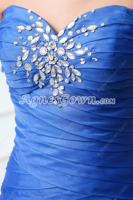 Terrific Sweetheart Layers Royal Blue Mermaid Sweet Sixteen Dress