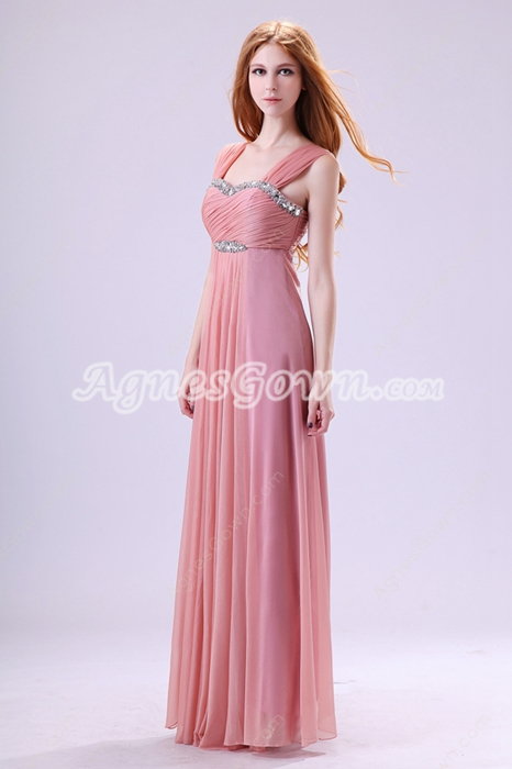 Delish Column Dusty Rose Bridesmaid Dress