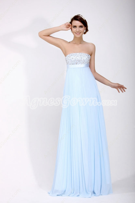 Terrific Tiffany Blue Maternity Prom Dress