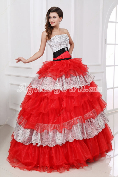 Special Colorful Quinceanera Dress