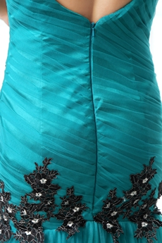 Charming V-Neckline Trumpet/Mermaid Teal Color Prom Dress