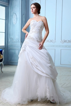 Taffeta And Tulle A-line Vintage Wedding Gown 2016
