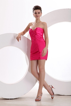 Cheap Fuchsia Graduation Dress For High School