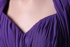Column Full Length Purple Prom Dress