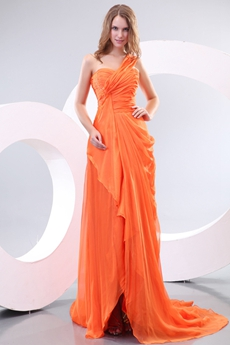 Charming One Straps A-line Orange Formal Evning Dress