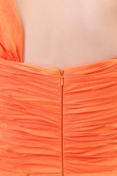 Charming One Straps A-line Orange Formal Evning Dress