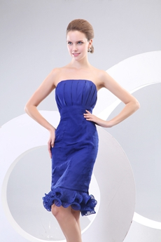 Cool Knee Length Royal Blue Wedding Guest Dress