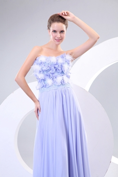 Charming A-line Lavender Pageant Prom Dress With Feather