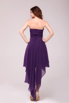 Charming Sweetheart High Low Purple Homecoming Dress