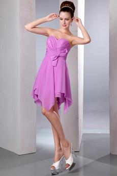 Cute Sweetheart High Low Lilac Homecoming Dress