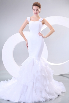 Charming Double Straps Mermaid/Fishtail Wedding Dress