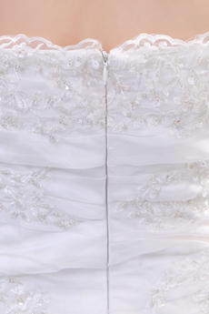 Luxurious Strapless Trumpet/Fishtail Organza Wedding Dress