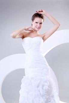 Romantic Mermaid 3d Floral Wedding Dress
