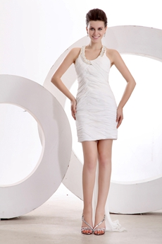 Cute Little White Dress With Detachable Train