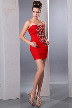 Exquisite Mini Length Red Homecoming Dress