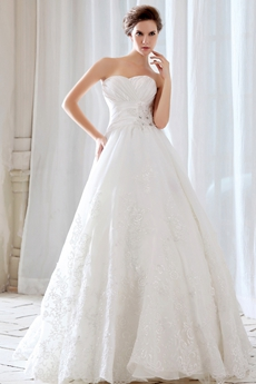 Exquisite Princess Lace Wedding Dress 2016