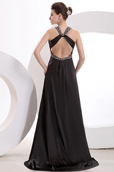 Sexy Keyhole Back V-Neckline Evening Dress For Cocktail Party