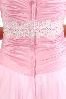 Sweetheart Puffy Floor Length Pink Princess Quinceanera Dress