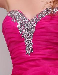 Lovely Sweetheart Ball Gown Fuchsia Organza Sweet Sixteen Dress