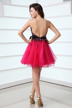 Sassy Sweetheart Black & Hot Pink Damas Dress With Rhinestones