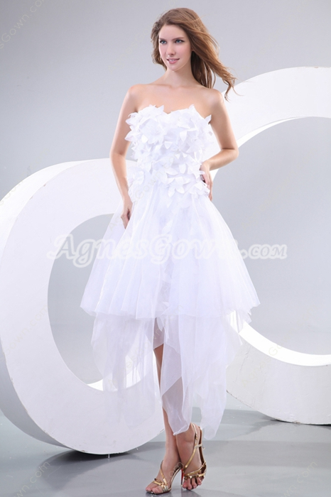 Marvelous Strapless White Quince Dress For Damas