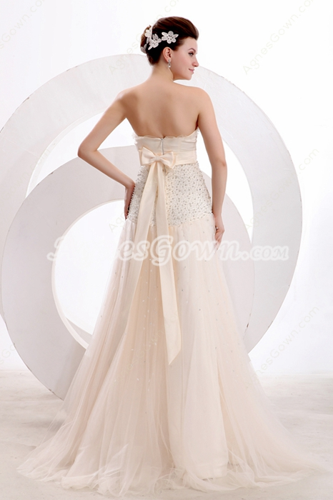 Sassy Sweetheart Puffy Full Length Champagne Pageant Dress With Beads