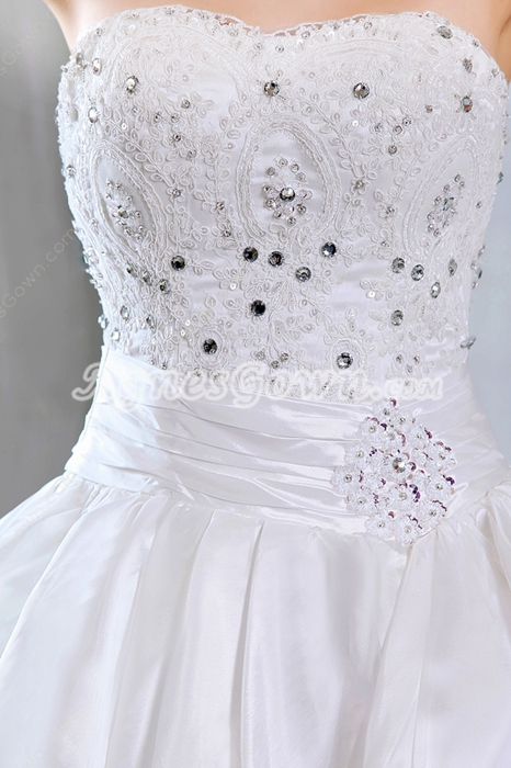 Brilliant Satin And Tulle Wedding Dress Corset Back
