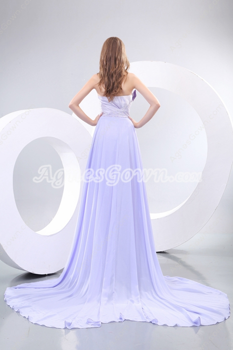 Awesome Lavender Celebrity Dress With Beads