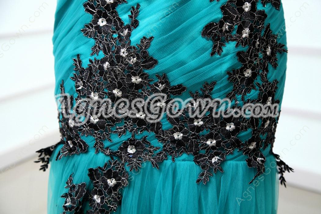Charming V-Neckline Trumpet/Mermaid Teal Color Prom Dress