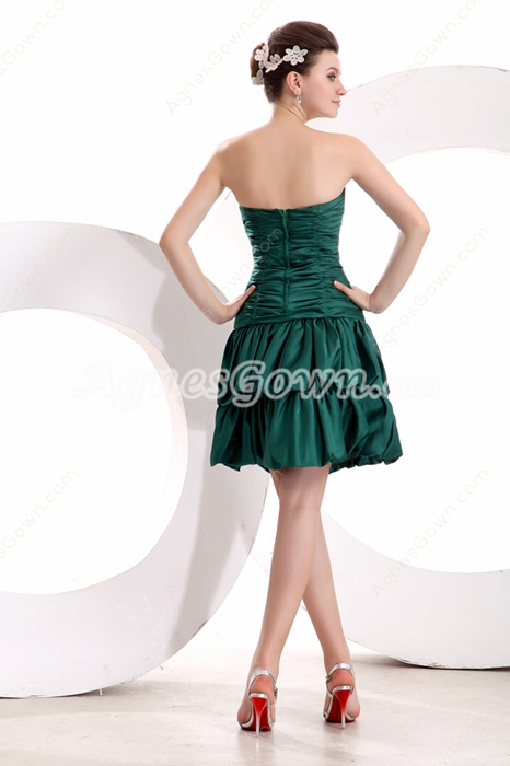 Mini Length Dark Green Quince Dress For Damas