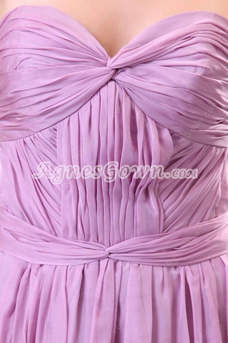Flattering Lilac Chiffon Pageant Prom Party Dress
