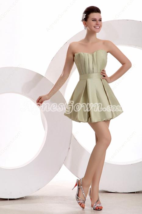 Sassy Mini Length Sage Homecoming Dress