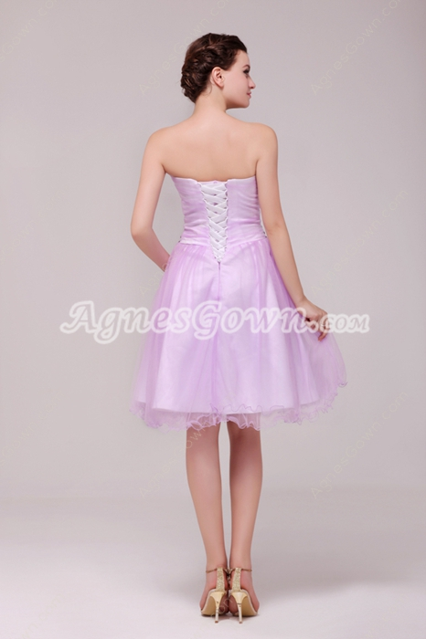 Fantastic Lilac Damas Dress With Crystals