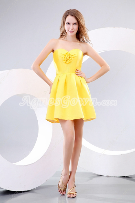 Cute Daffodil Homecoming Dress