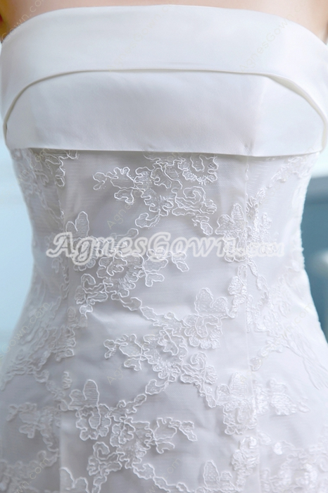 Retro Trumpet/Fishtail Ivory Lace Wedding Dress