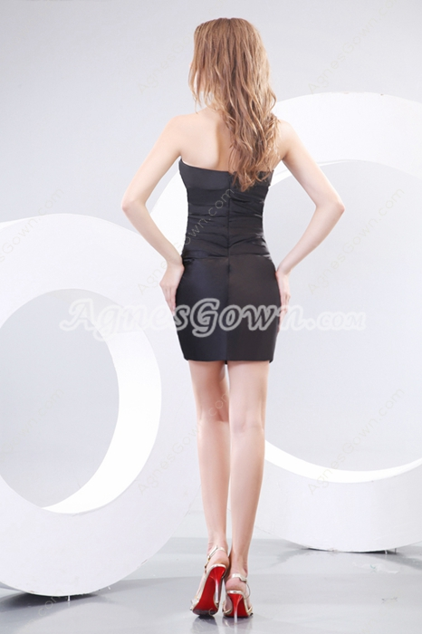 Mini Length Black Nightclub Dress