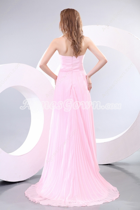 Amazing Sweetheart A-line Pink Engagement Evening Dress