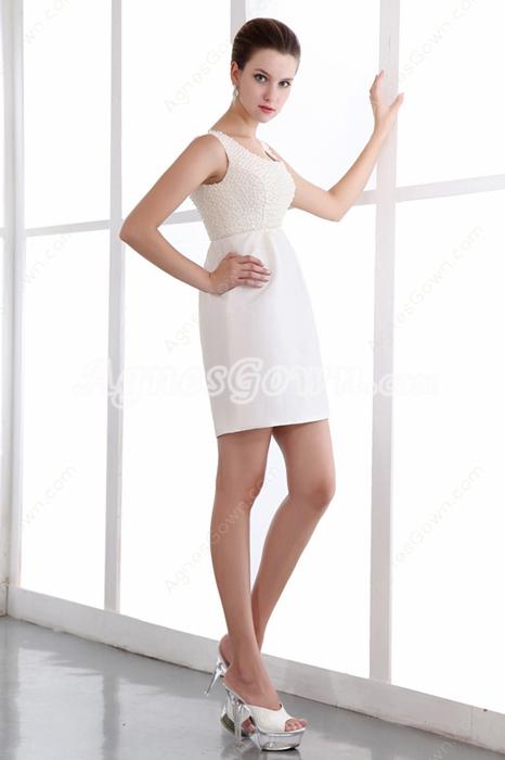 Mini Length Beaded Nightclub Dress