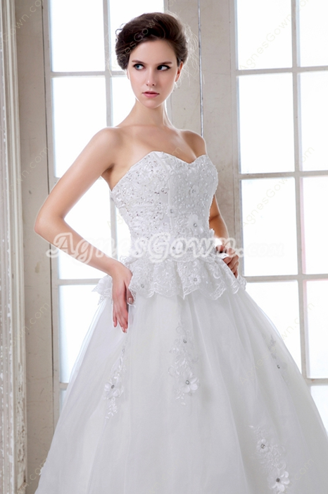 Exquisite Sweetheart Princess Lace Wedding Dress