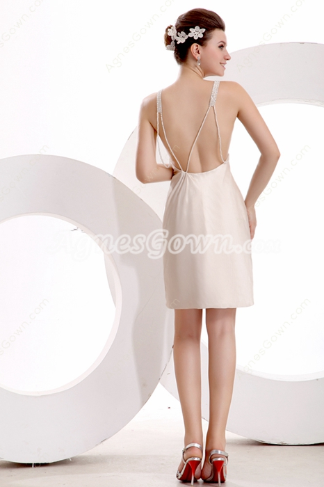 Sexy Open Back Mini Length Cocktail Dress