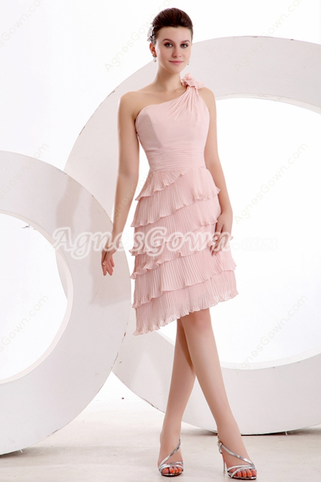 Charming One Shoulder Asymmetrical Hem Wedding Guest Dress