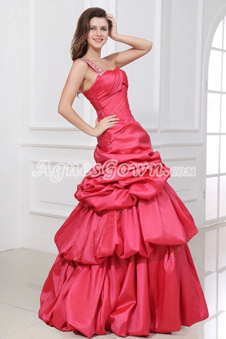 Flattering One Straps Watermelon Simple Quince Dress