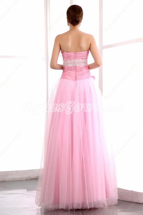 Sweetheart Puffy Floor Length Pink Princess Quinceanera Dress