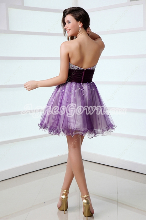 Cute Purple Quince Dress For Damas