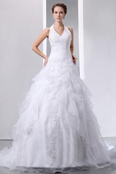 Perfect Organza Halter Ball Gown Bridal