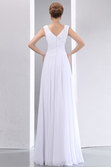 Romantic Beach Wedding Dress V-Neckline