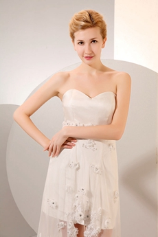 Chic Ivory Beach Wedding Dress Detachable Train